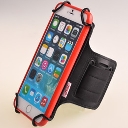 TFY Open-Face Sport Armband + Key Holder for iPhone 6 Plus, Black - (Open-Face Design - Direct Access to Touch Screen Controls)