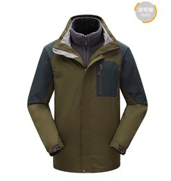 Wholesale-2016 new style woman and man's 2-pieces ski jacket sking suit lovers' outdoor warm waterproof clothing hiking climbing