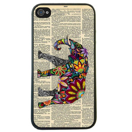 Wholesale Elephant On Dictionary Skin Hard Plastic Mobile Phone Case Cover For Iphone S S C Plus