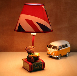 Little Doll bedroom lovely bedside lamps garden fresh style creative small table lamp reading lamp Grizzlies Desktop lamps children's room