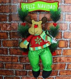 Wholesale New year Christmas decoration Christmas Figurine Swing Santa Claus Christmas hang hang act the role of door window