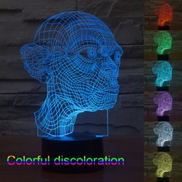 Wholesale 3D Table Lamp LED Light Bulbs Cubes Gollum My Baby Modern Lighting Night Lights Plug Led Color Changing Light Colorful Interesting People