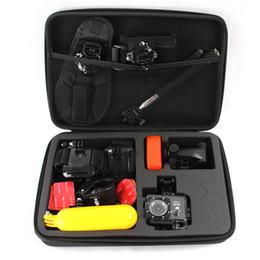 Wholesale Gopro Accessories Black L Size Shockproof Case EVA Portable Collection Box for Hero Gopro sport camera case GP102