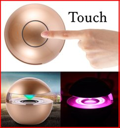Wholesale BT118 Mini Ball Style Touch Control Wireless Bluetooth Speaker D Surround Stereo Speaker Multi Color LED Light Flash Hands free Speaker