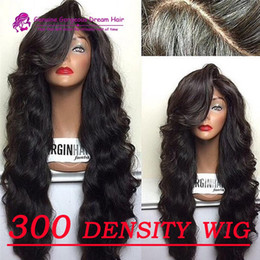 Top Grade 7A ! Unprocessed Human Hair Brazilian Lace front Wig 300 Density 12-24 Inch Service Life Six Years Best Lace Cap