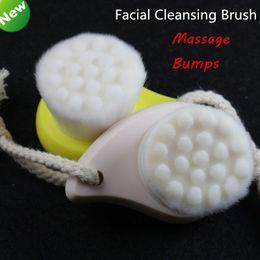Wholesale Facial Brush Face Cleansing Skin Massage Bumps Deep Pore Cleanser Wash Brush