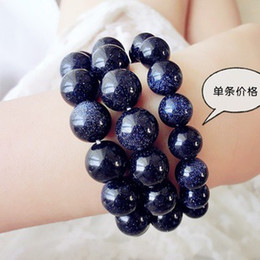 Wholesale Retro Bracelet Blue Sky Blue gravel sand settles lovers enrichment Wishing Stone Fashion Jewelry