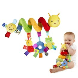 Wholesale Plush baby toy educational newborn mobile baby rattles toys for kids colorful caterpillar baby stroller toys hanging
