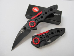 Special offers Mantis MR-1 tactical folding knife Black and Red handle Chaos Folder knife knives with original paper box packaging