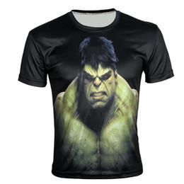 Descuento de manga corta cuello en v W1209 Super héroe el hulk Imprimir creativo 3D camiseta verano manga corta deporte camiseta delgada XXS-6X, E159