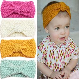 newborn headband Crochet baby turban knitted headband Crochet head wrap baby girls Ear Warmer toddler fashion