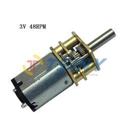 Wholesale Robot mini dc gear motor DC V rpm min speed gear reducer motor with gearbox
