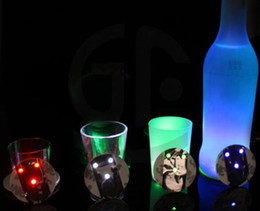 Wholesale New Arrive Ultra Thin Bar Cup LED Flashing Lights Bottle Sticker Party Light Up Wine Mat for Beauty