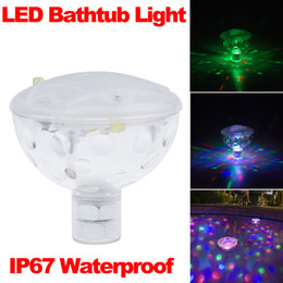 Wholesale Fashion Color LED Underwater Light Float Spa Bathtub Pond Swimming Pool LED Light Disco Holiday Indoor Lighting IP67 Waterproof