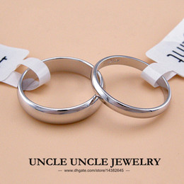 Unisex!!! White Gold Plated Width 5mm 2mm Classic Simple Finger Ring Wholesale 18KRGP Stamp