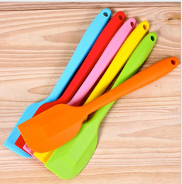 Silicone Cake Batter Scraper Cake Cream Butter 28CM colourful FDA SGS Spatula Mixing Batter Scraper Brush Silicone Baking Tool HK09