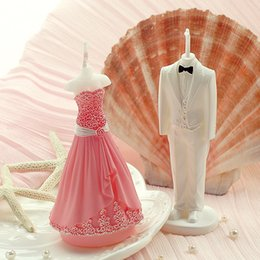 Wholesale 2016 romantic creative wedding gift pink wedding dress wedding candles A birthday present To send his girlfriend