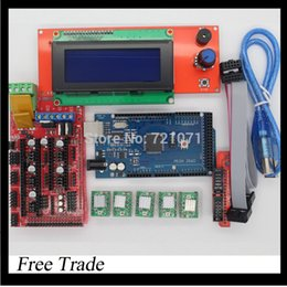 Wholesale New D Printer Kit RAMPS LCD Controller MEGA R3 A4988 Driver
