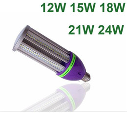 2017 e27 ce smd Ampoule de maïs LED E27 E40 12W 15W 18W 21W LED maïs léger 360Angle 85-265V SMD5730 Super Bright halogénures métalliques ROHS ampoule approuvée par CE abordable e27 ce smd