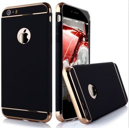 Wholesale Ultra thin in Anti Scratch Anti fingerprint Shockproof Resist Cracking Electroplate Metal Texture Armor PC Hard Back Case Cover for Appl