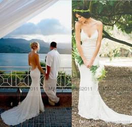 2019 Lace Summer Beach Wedding Dresses Backless Bridal Gown Simple Court Train Elegant Wedding Gowns Beach Wedding Dresses