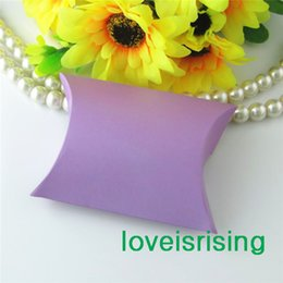 Wholesale Pieces x7 x2 cm Lavender Color Pillow Favor Box Gift Box For Baby Shower Wedding Favors Boxes Supplies