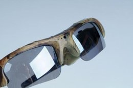 Choix de sports à vendre-Votre choix idéal pour les sports de chasse en plein air, Nouveau 720P camouflage HD lunettes de soleil appareil photo DVR avec lentilles modifiables