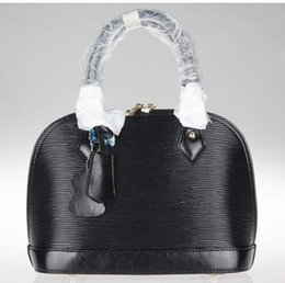Wholesale Black Epi Vernis Alma Handbags Tote Bags purse shoulder Shell package Fashion bags totes best price
