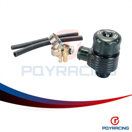 Wholesale PQY STORE Black Auto racing turbo aluminum blow off valve with Adpater outside PQY5742BK