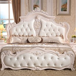 Wholesale Big promotion activity partner Continental Cheap leather bed double bed m French bedroom furniture