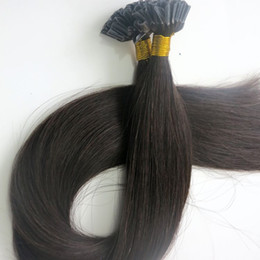 100g 1Set 100Strands Pre bonded nail u tip hair extensions 18 20 22 24inch #1B Off Black Brazilian Indian Human hair