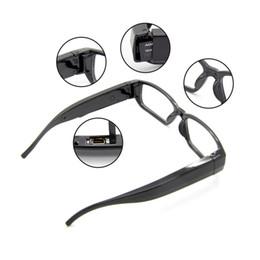 Wholesale NO hole Glasses Hidden Spy Pinhole Camcorder Eyewear Sunglass Camera Mini DVR DV Audio Video Recording A1000