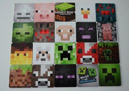 Wholesale 2015 New Arrival Minecraft Creeper Cup Pad Mat Coffee Cup PAD MAT Square Tea Coffee Cup Coaster Cup Mat Pad styles in stock mixed order