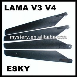 Wholesale Pairs LAMA Main Rotor Blades For APACHE AH Walkera B LAMA V3 V4 freeshipping