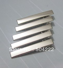 Wholesale 200pcs mm Silver tone plated metal hair alligator clip barrette lead and nickle free
