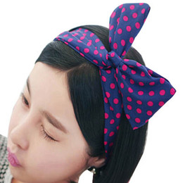 Women Girls Kids Rabbit Headbands Bunny Ear Hair Band Bow Head Wrap Floral Headband