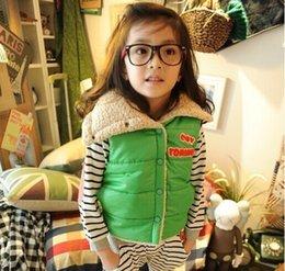 Wholesale-Children's private lambs wool vest candy color joker cotton vest
