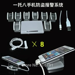 Wholesale Free Fedex Shipping ports Cell Phone Security Display Alarm system host mobile phone alert system master with Acrylic stand dandys