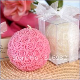 M2 Rose Ball candle,wedding gift,chirstmas gift,home decoration