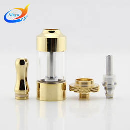 Wholesale-Newest Atomizer for vision spinner II vision spinner III batterry dual Coil Core Replaceable Golden huge capacity