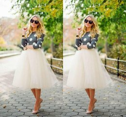 2015 White Tulle Girls Skirts A Line Cheap Short Mini Tutu Plus Size Wedding Dress Skirt