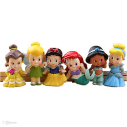Wholesale Set of Chunky Baby Toddler Princess quot Figures Featuring Tinker Bell Snow White Jasmine Cinderella Belle and Ariel toy