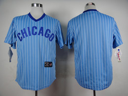 Wholesale New Arrival Baseball Jerseys Chicago Cubs Turn Back Retro Throwback Baby Blue Blank No Name Jersey Mix Order