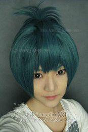 Wholesale gt gt Demon Spade Short Cosplay Smoke blue Wig