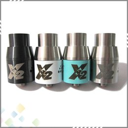 Wholesale 2015 Doge X V2 Atomizer Doge X V2 Rebuildable RDA Doge Tank Dripper colors SS Black Copper White fit Mods DHL Free