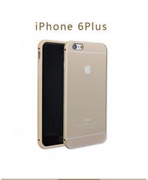 Descuento marcos libres Cáscara del teléfono de Apple 6plus iPhone6 plus estructura de metal con el caso de la cubierta protectora caja del teléfono la manera del envío de vuelta teléfono celular de cubierta