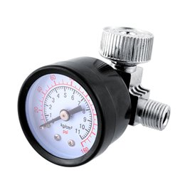 Wholesale New Sealed Type In Line Air Regulator With Pressure Gauge Adjustable Spray Gun Portable High quality