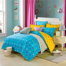 Wholesale 100 cotton New bedding set Points Printing duvet quilt covers bedclothes queen size cm Flat sheet Bed linen roupa de cama
