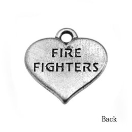50Pcs Fashion Fire Fighters Accessory Heart Charms Jewelry For Men
