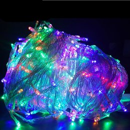 2018 New 100M 600 LEDs Waterproof LED Christmas Lights Tree 8 Displays 220V EU Plug 1pcs Lot RGB White, warm white